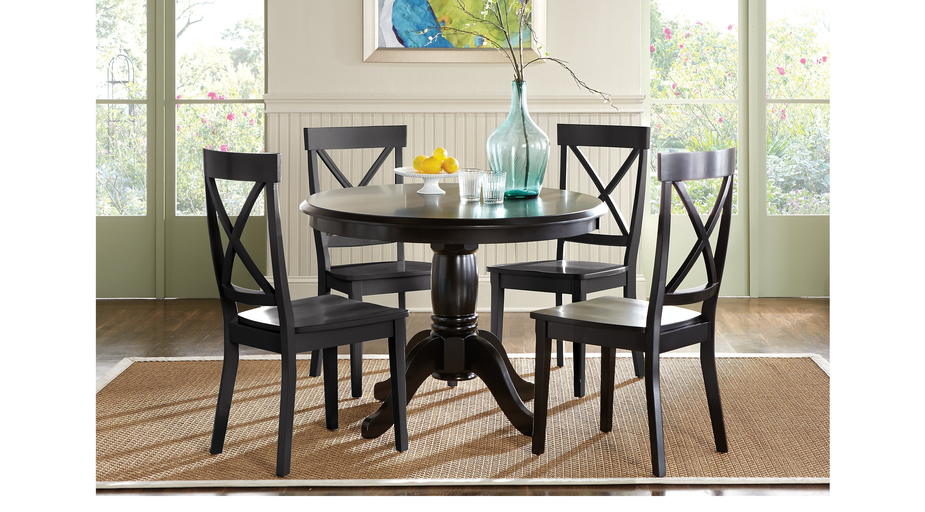 Marvelous Round Dining Room Table With Brynwood Black 5 Pc Round Regarding Most Recently Released Caden 5 Piece Round Dining Sets (Photo 7 of 20)