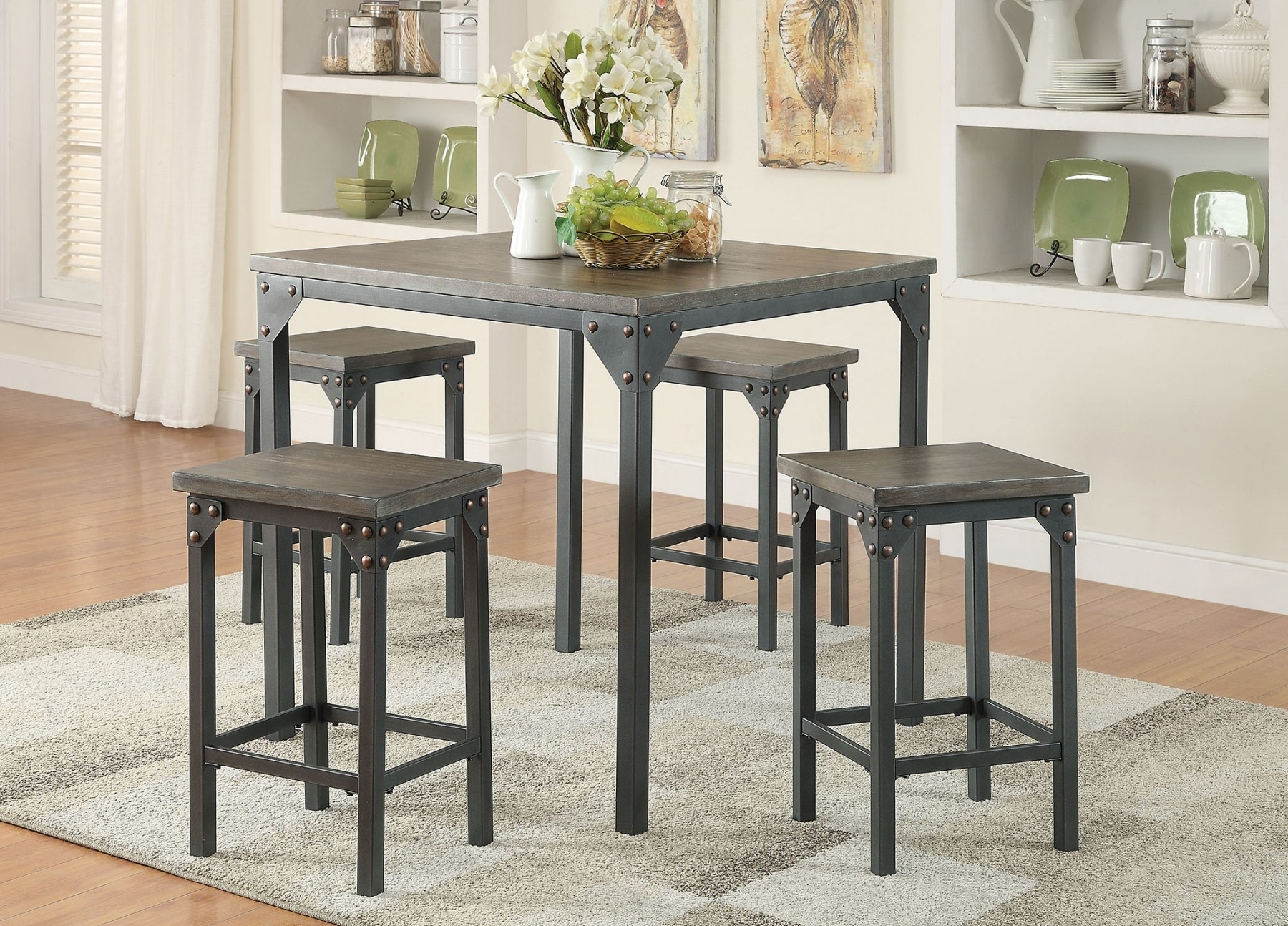 May Dinette 2017 — Luthersales Within 2017 Pierce 5 Piece Counter Sets (Photo 18 of 20)