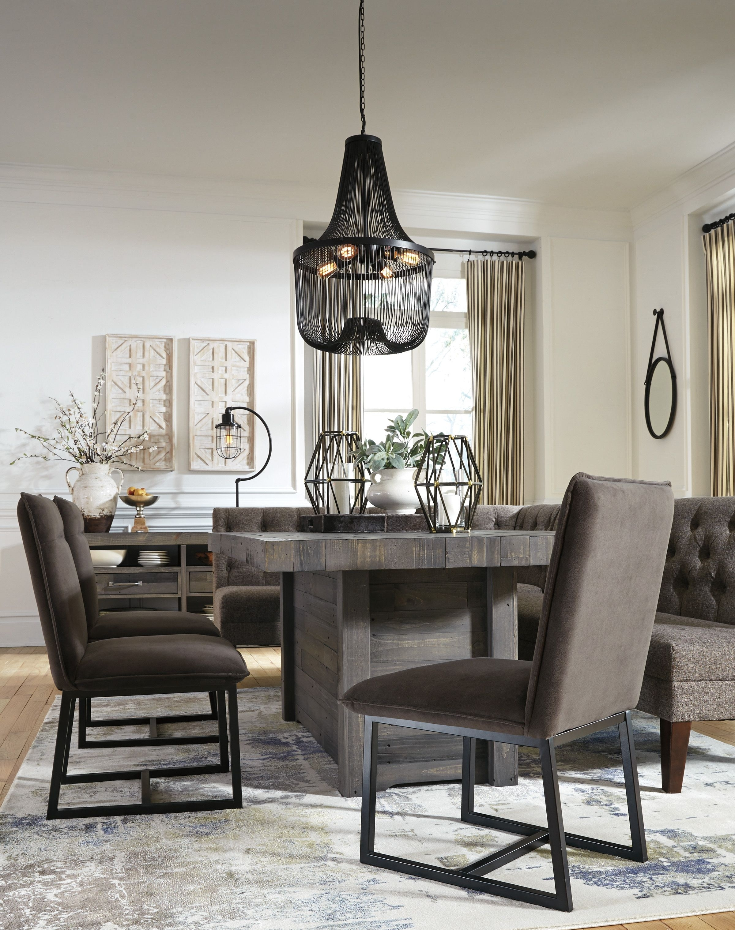 Mayflyn 7 Piece Casual Dining | Contemporary Living | Pinterest Regarding 2017 Helms 7 Piece Rectangle Dining Sets (Image 9 of 20)