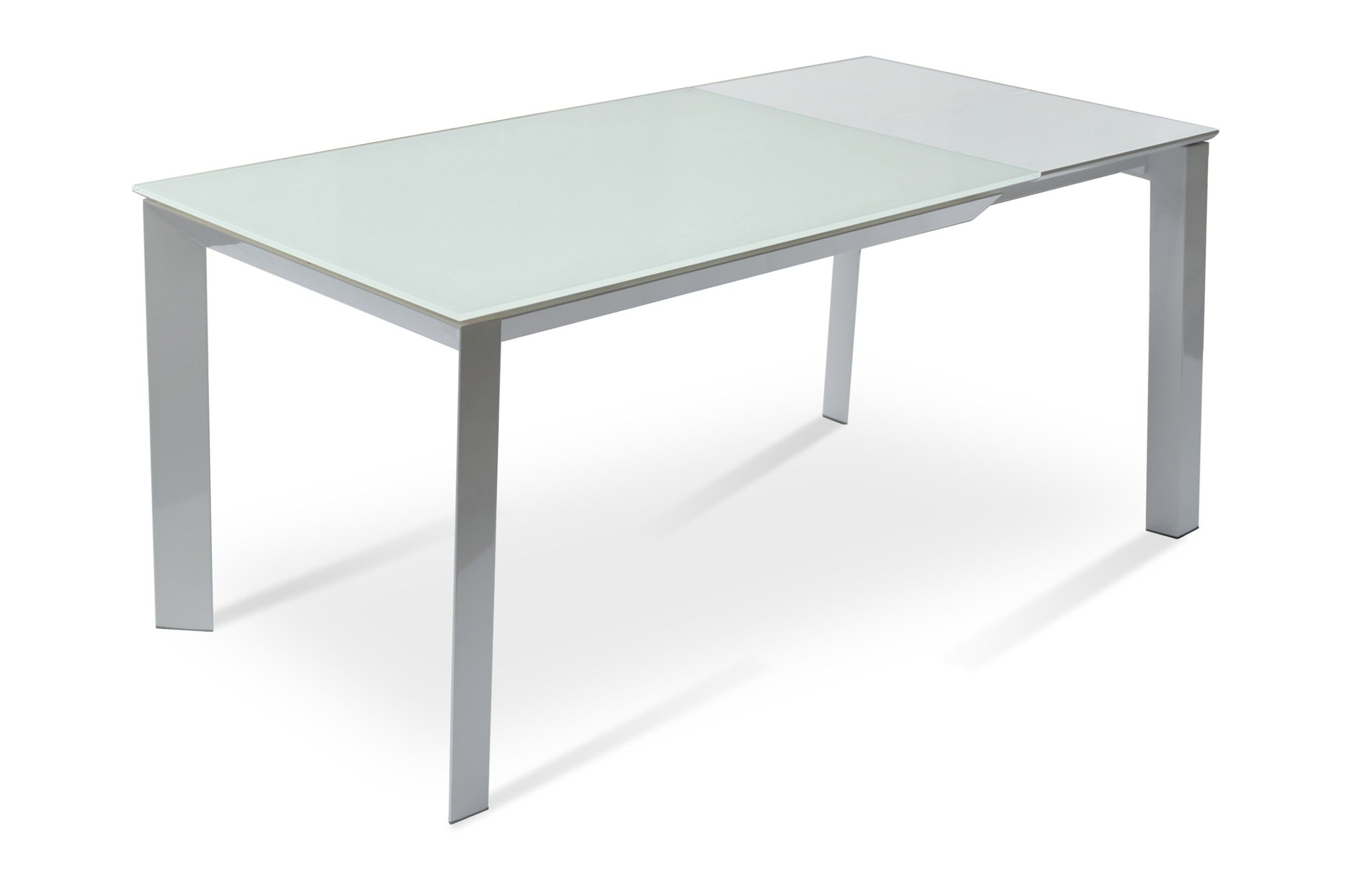 Milano Glass Extendable Dining Table | Dining Area | Pinterest With Regard To Most Current Ina Matte Black 60 Inch Counter Tables With Frosted Glass (Image 4 of 20)