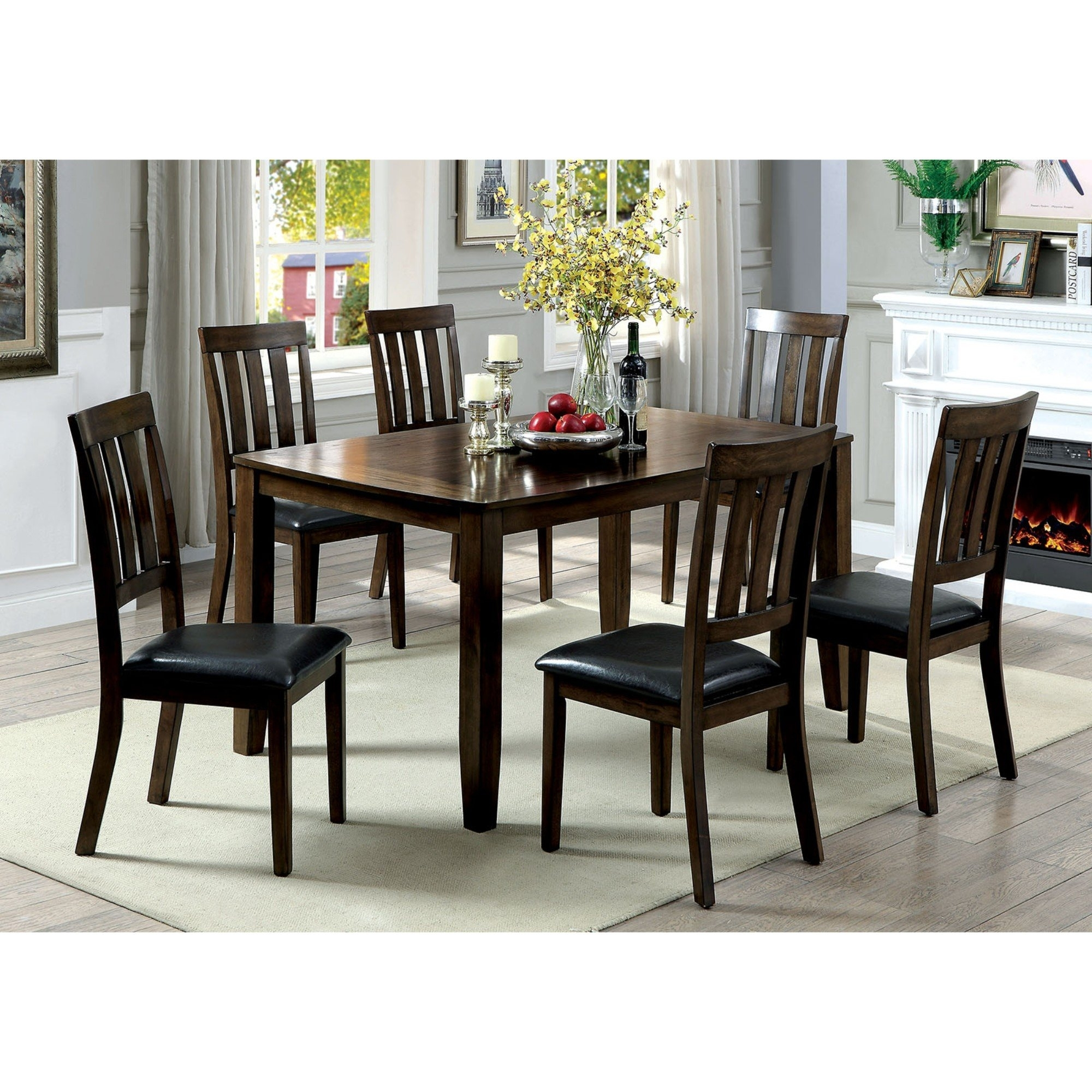 Millwood Pines Devon Wooden 7 Piece Counter Height Dining Table Set Intended For 2017 Candice Ii 5 Piece Round Dining Sets With Slat Back Side Chairs (Image 10 of 20)