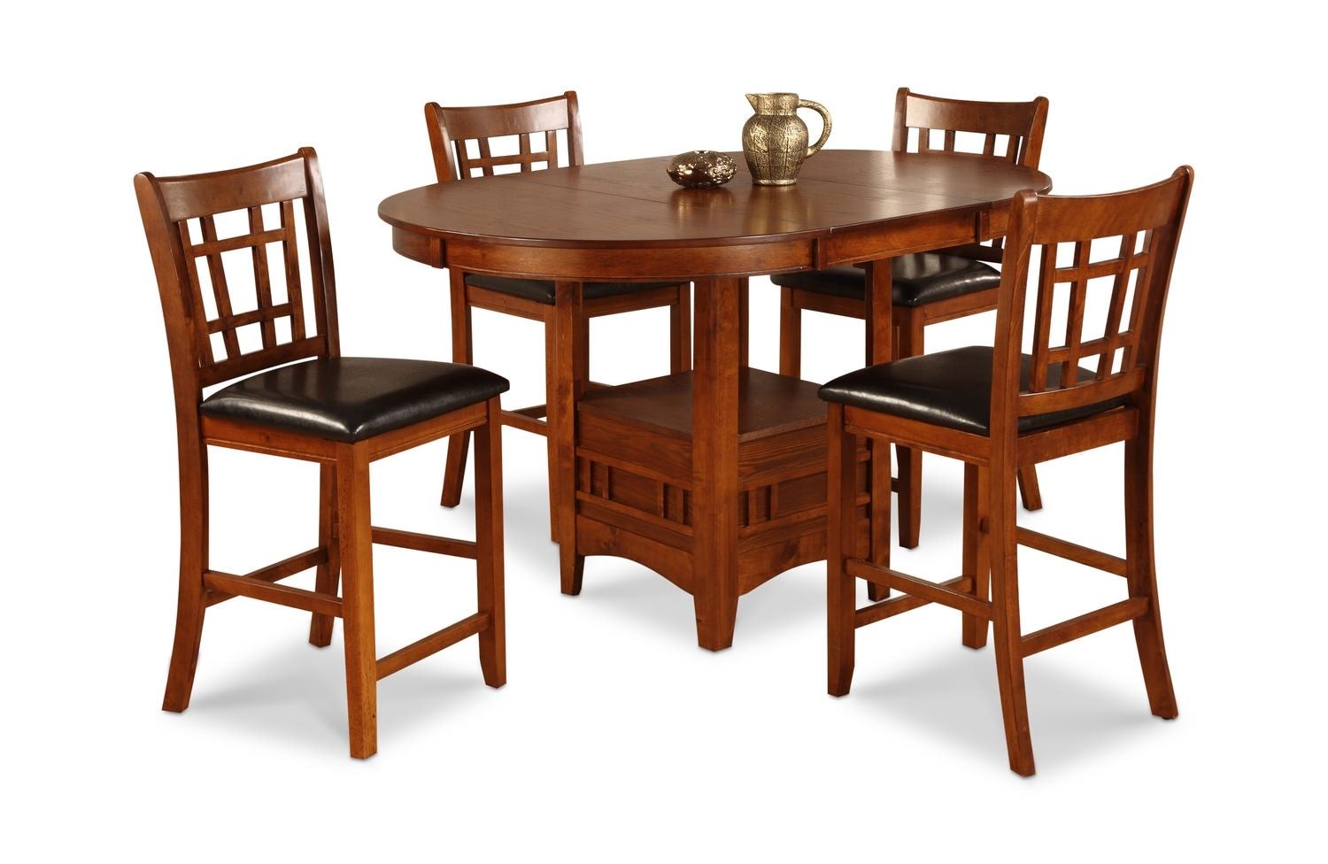 Mission Park Dining Set | Hom Furniture With Best And Newest Craftsman 5 Piece Round Dining Sets With Uph Side Chairs (Image 14 of 20)