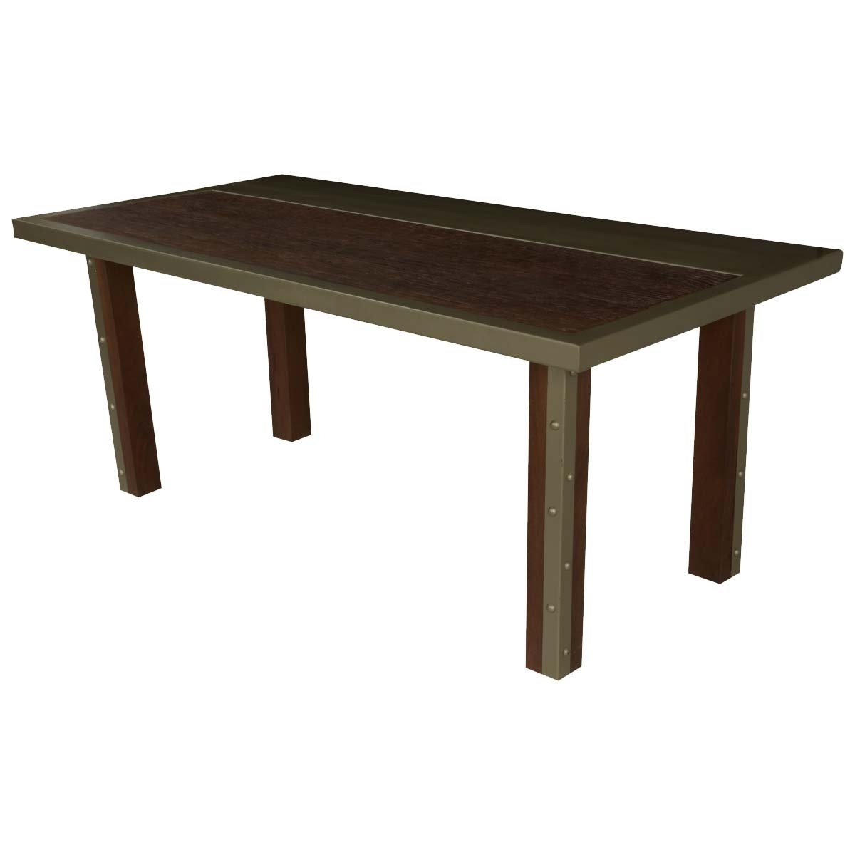 "Modern Industrial Mango Wood & Iron 71"" Dining Table Regarding Current Mango Wood/iron Dining Tables (Image 15 of 20)"