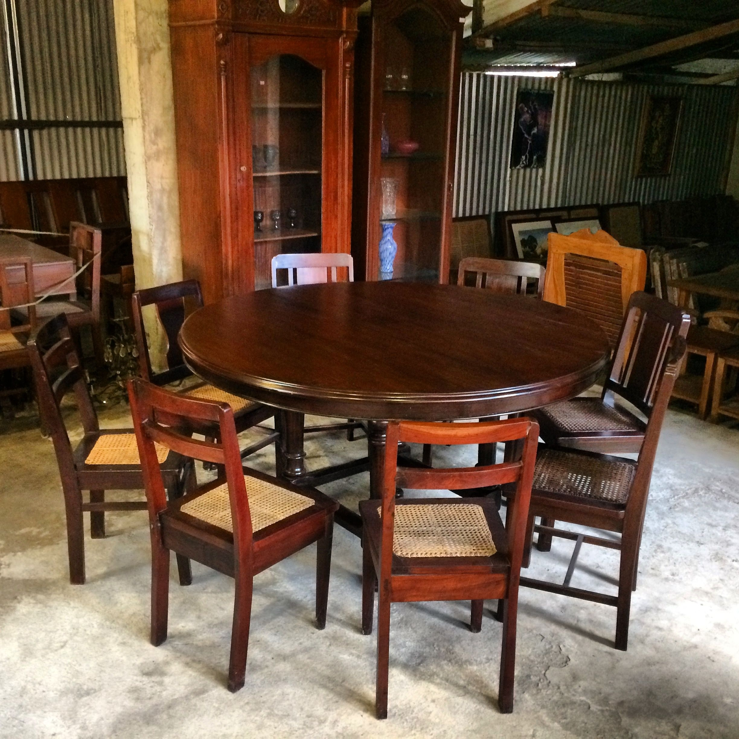 My 6 7 Seater Vintage — Narra Dining Table — 1.5 Inch Thick Inside Most Recently Released Palazzo 7 Piece Rectangle Dining Sets With Joss Side Chairs (Photo 15 of 20)