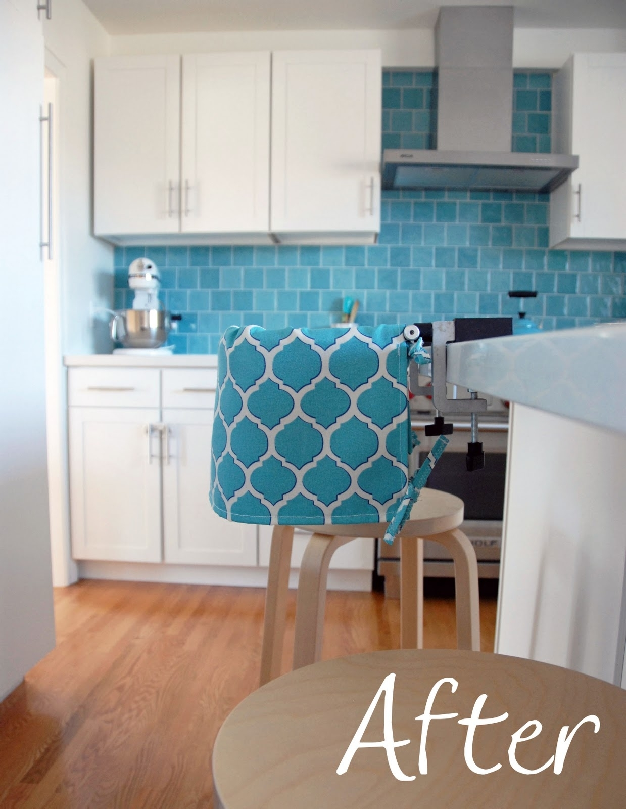 Nalle's House: Highchair Slipcover How To Regarding Most Up To Date Wyatt 7 Piece Dining Sets With Celler Teal Chairs (Image 13 of 20)