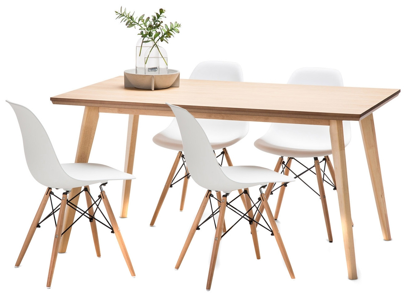 New Wyatt Dining Table Set With 4 Eames Replica Chairs | Ebay Regarding 2017 Wyatt Dining Tables (View 13 of 20)