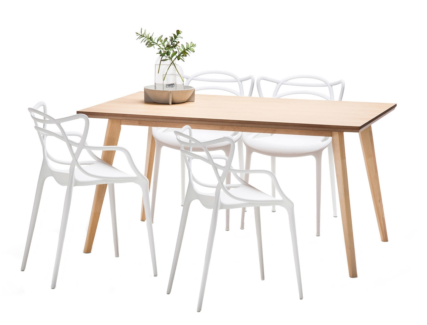 New Wyatt Dining Table Set With 4 Phillipe Starck Master Replica In Most Recently Released Wyatt Dining Tables (View 19 of 20)