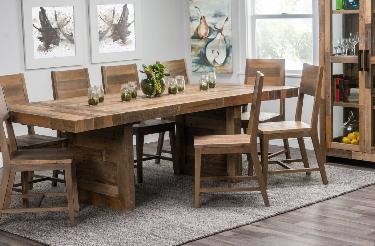 Norman Extendable Dining Table | Modern Farmhouse Decor/accents Intended For Most Current Norwood 7 Piece Rectangular Extension Dining Sets With Bench, Host & Side Chairs (View 9 of 20)