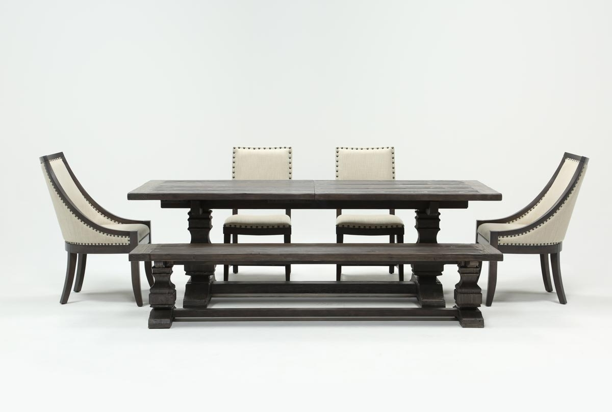 Norwood 6 Piece Rectangle Extension Dining Set | Living Spaces For Newest Norwood 7 Piece Rectangle Extension Dining Sets (Photo 3 of 20)