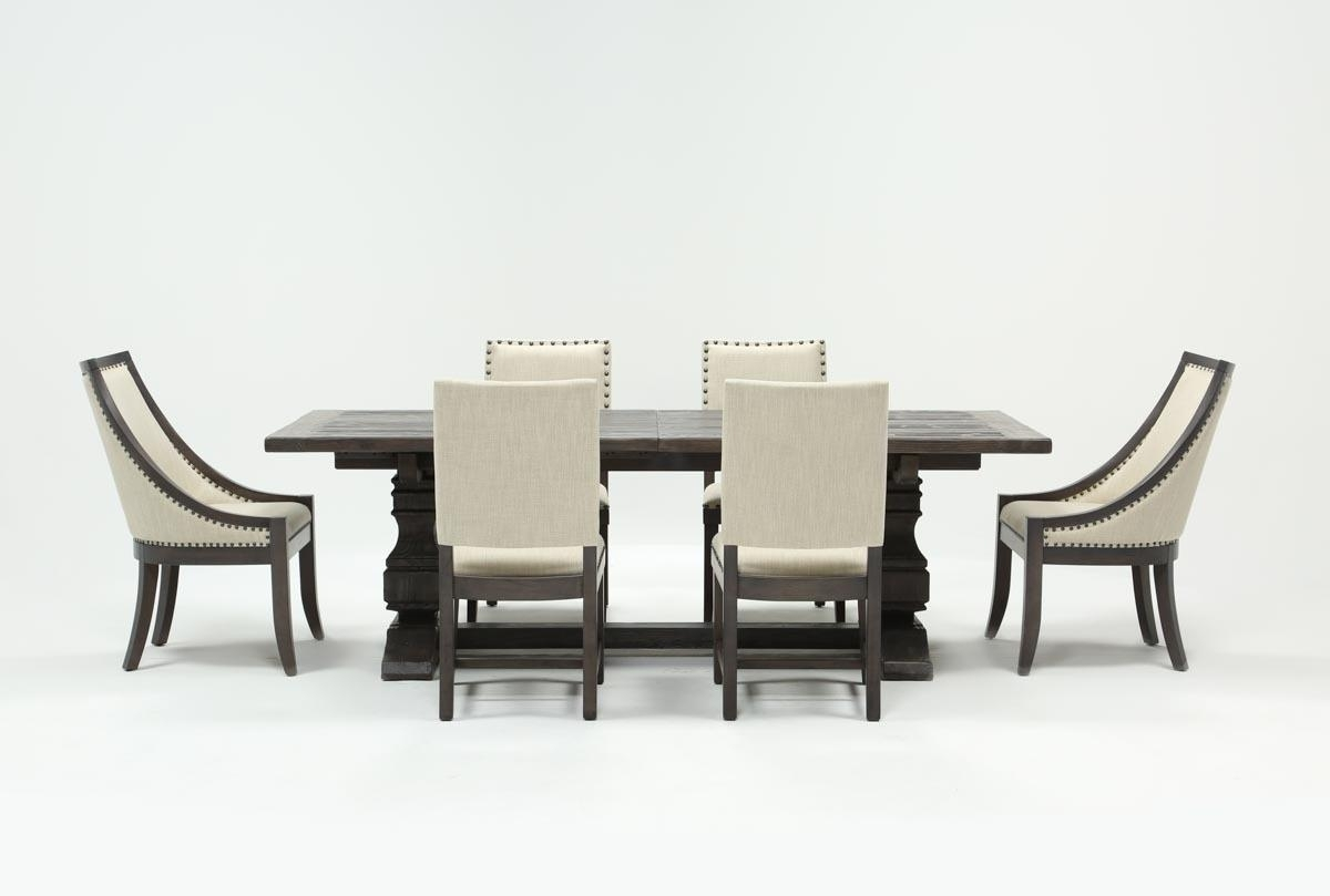 Norwood 7 Piece Rectangle Extension Dining Set | Living Spaces Intended For Most Recent Combs 7 Piece Dining Sets With  Mindy Slipcovered Chairs (Image 17 of 20)
