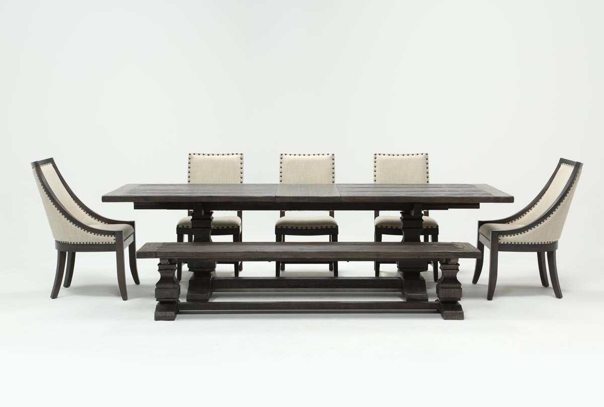 Norwood 7 Piece Rectangular Extension Dining Set With Bench, Host Pertaining To Most Recently Released Norwood 7 Piece Rectangle Extension Dining Sets (View 2 of 20)