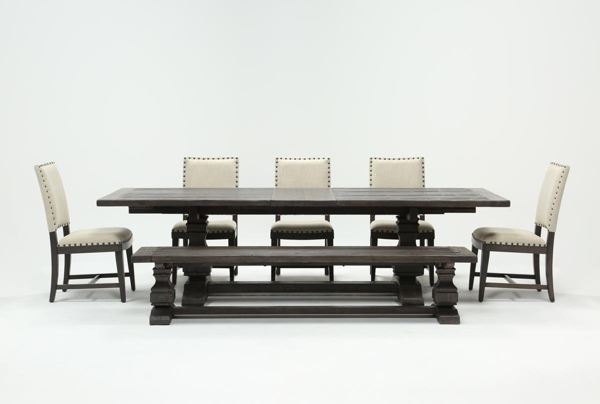 Norwood 7 Piece Rectangular Extension Dining Set With Bench & Uph With Regard To Most Current Norwood 7 Piece Rectangular Extension Dining Sets With Bench & Uph Side Chairs (Photo 1 of 20)