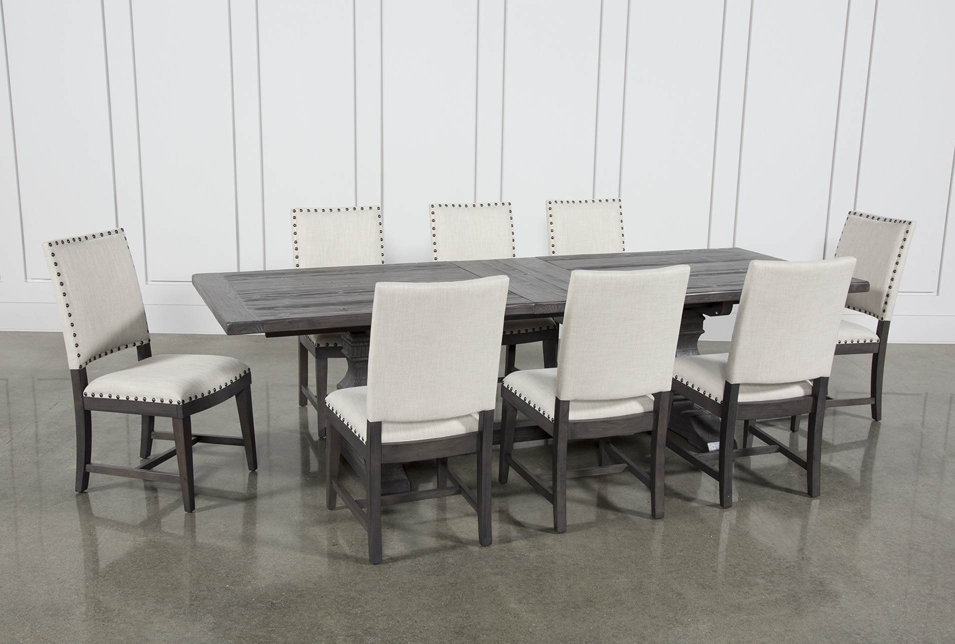 Norwood 9 Piece Rectangular Extension Dining Set With Uph Side With Latest Norwood Rectangle Extension Dining Tables (Image 10 of 20)