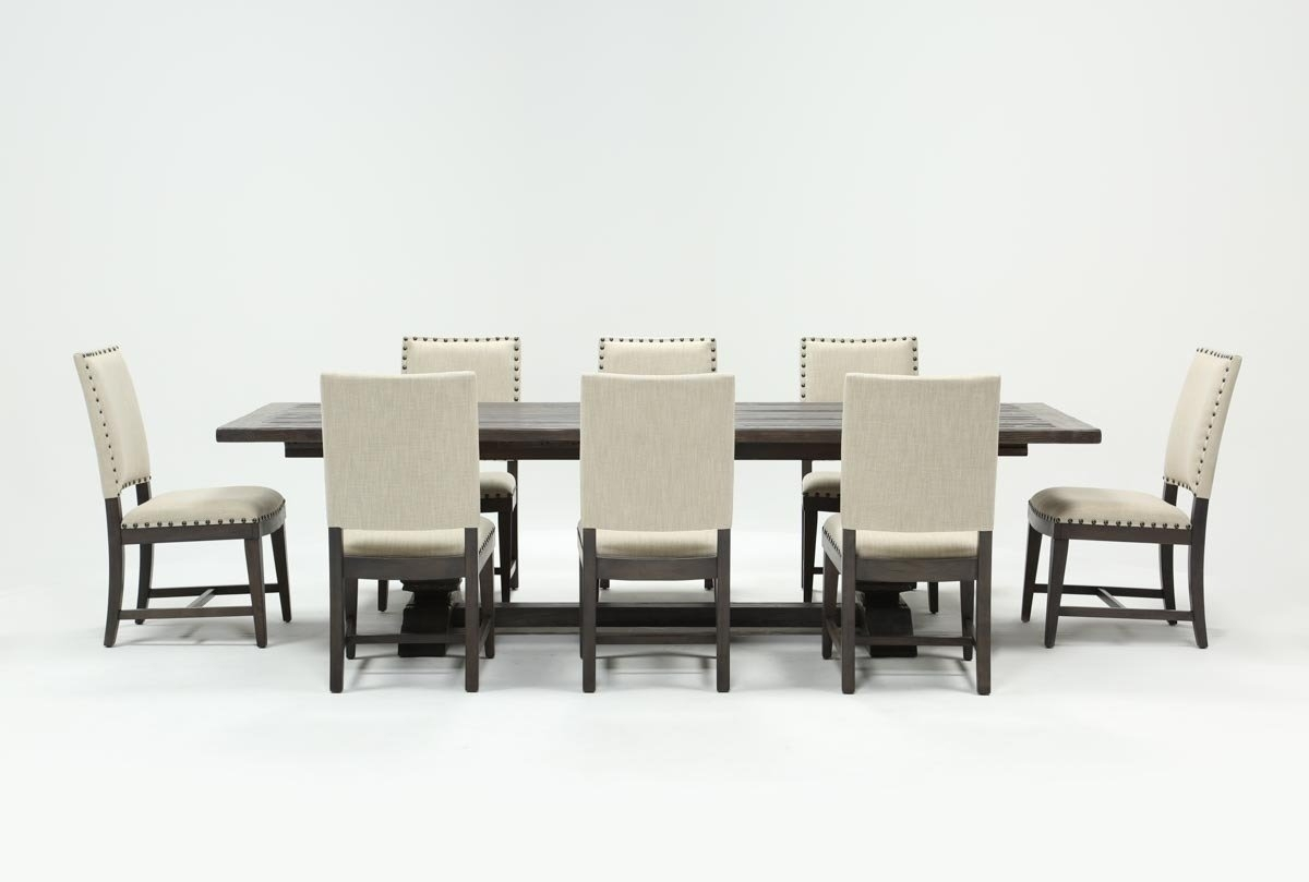 Norwood 9 Piece Rectangular Extension Dining Set With Uph Side With Regard To Most Up To Date Norwood 7 Piece Rectangular Extension Dining Sets With Bench & Uph Side Chairs (Image 13 of 20)