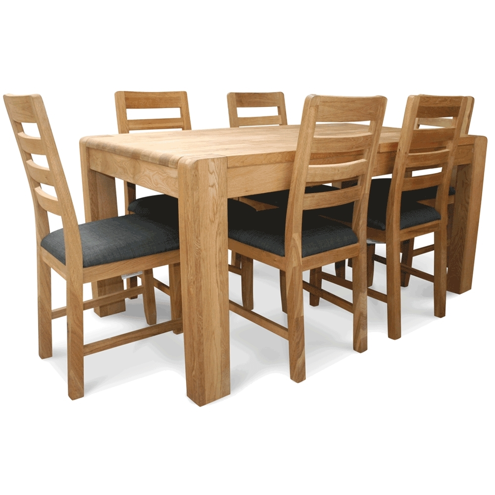 Oak Extending Table And Chairs Within Most Popular Caira Extension Pedestal Dining Tables (View 11 of 20)