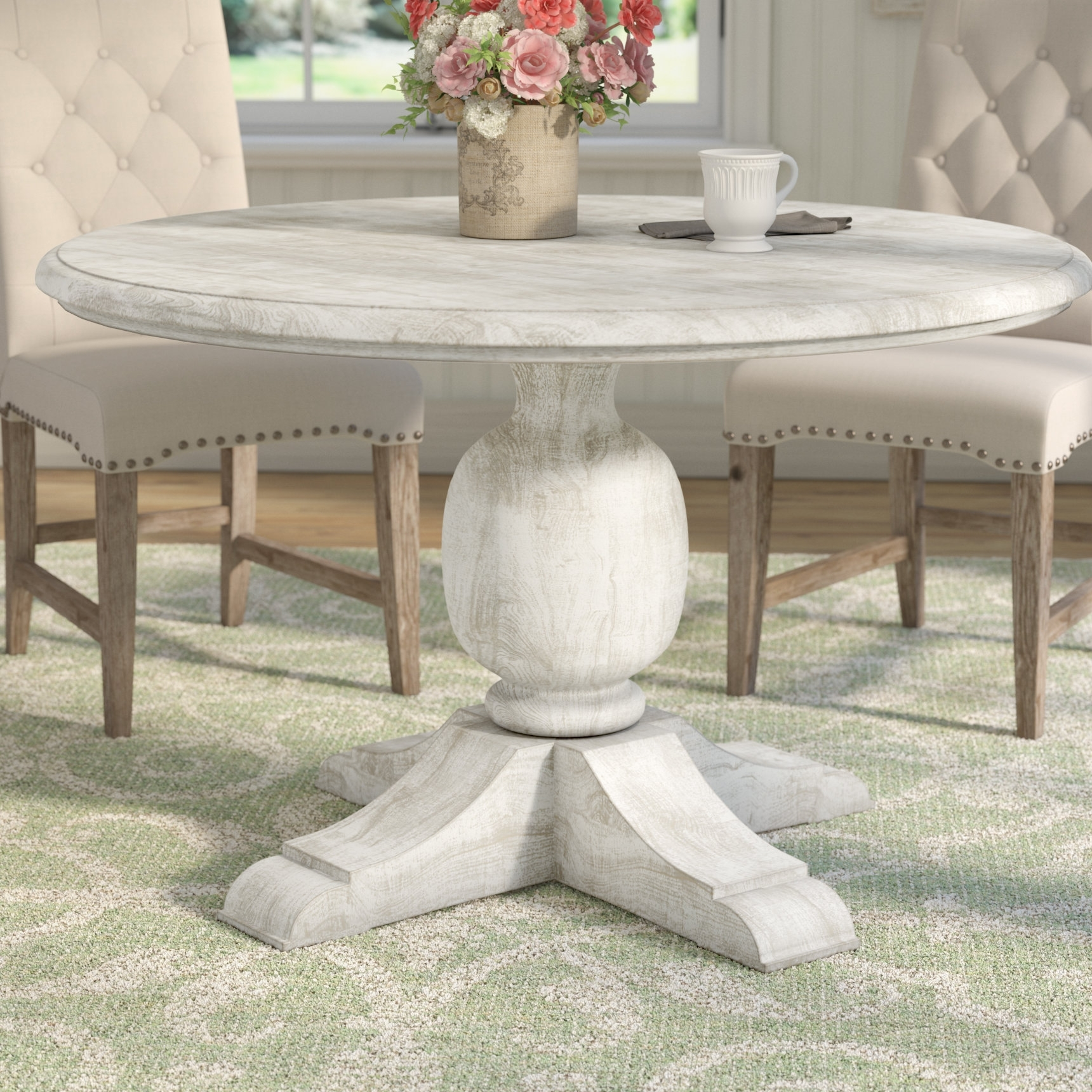 One Allium Way Valencia Dining Table & Reviews | Wayfair Pertaining To Most Popular Valencia 60 Inch Round Dining Tables (Image 12 of 20)