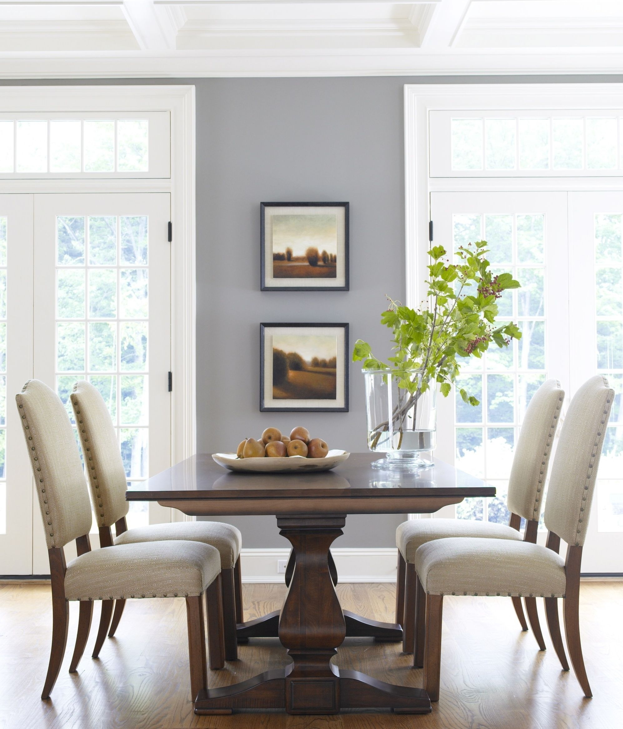 Our Dining Room Table And Chairs (Different Fabric, Minus The With Most Popular Helms 7 Piece Rectangle Dining Sets With Side Chairs (Image 10 of 20)