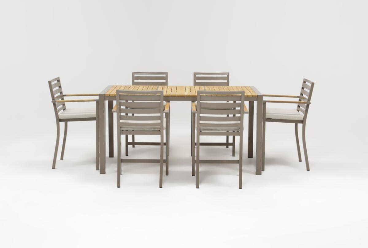 Outdoor Brasilia Teak 7 Piece High Dining Set Regarding 2018 Outdoor Brasilia Teak High Dining Tables (View 2 of 20)