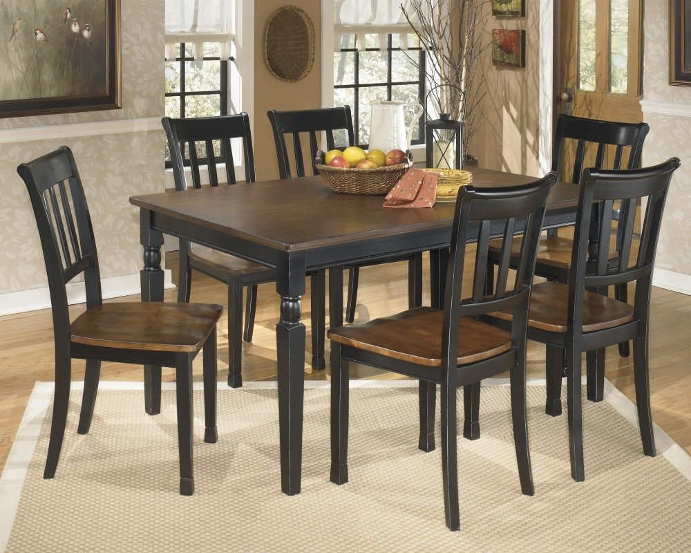 Owingsville Rectangular Dining Room Table & 6 Side Chairs   D580/02 Pertaining To 2018 Market 6 Piece Dining Sets With Side Chairs (View 4 of 20)