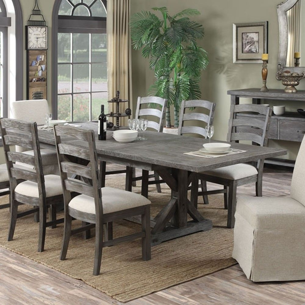 Paladin Wood Rectangular Dining Table In Charcoalemerald Home Within Newest Helms 7 Piece Rectangle Dining Sets (Photo 15 of 20)