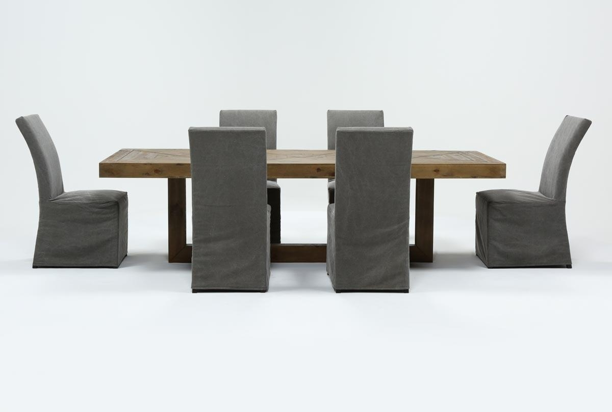 Featured Image of Bale Rustic Grey 6 Piece Dining Sets With Pearson Grey Side Chairs