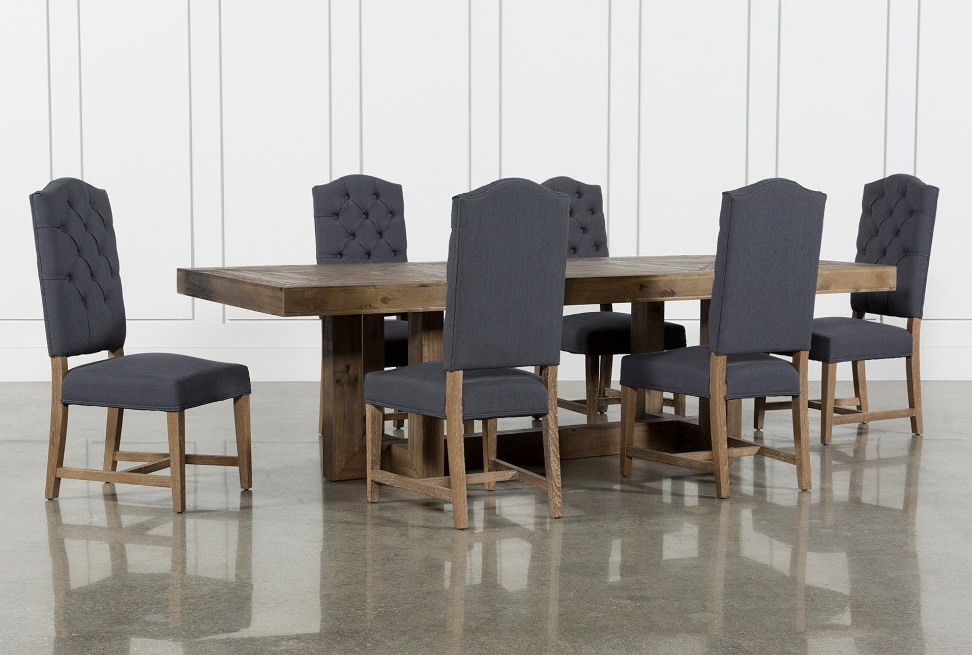 Palazzo 7 Piece Rectangle Dining Set With Joss Side Chairs | Dream Throughout Most Recently Released Walden 9 Piece Extension Dining Sets (Image 10 of 20)