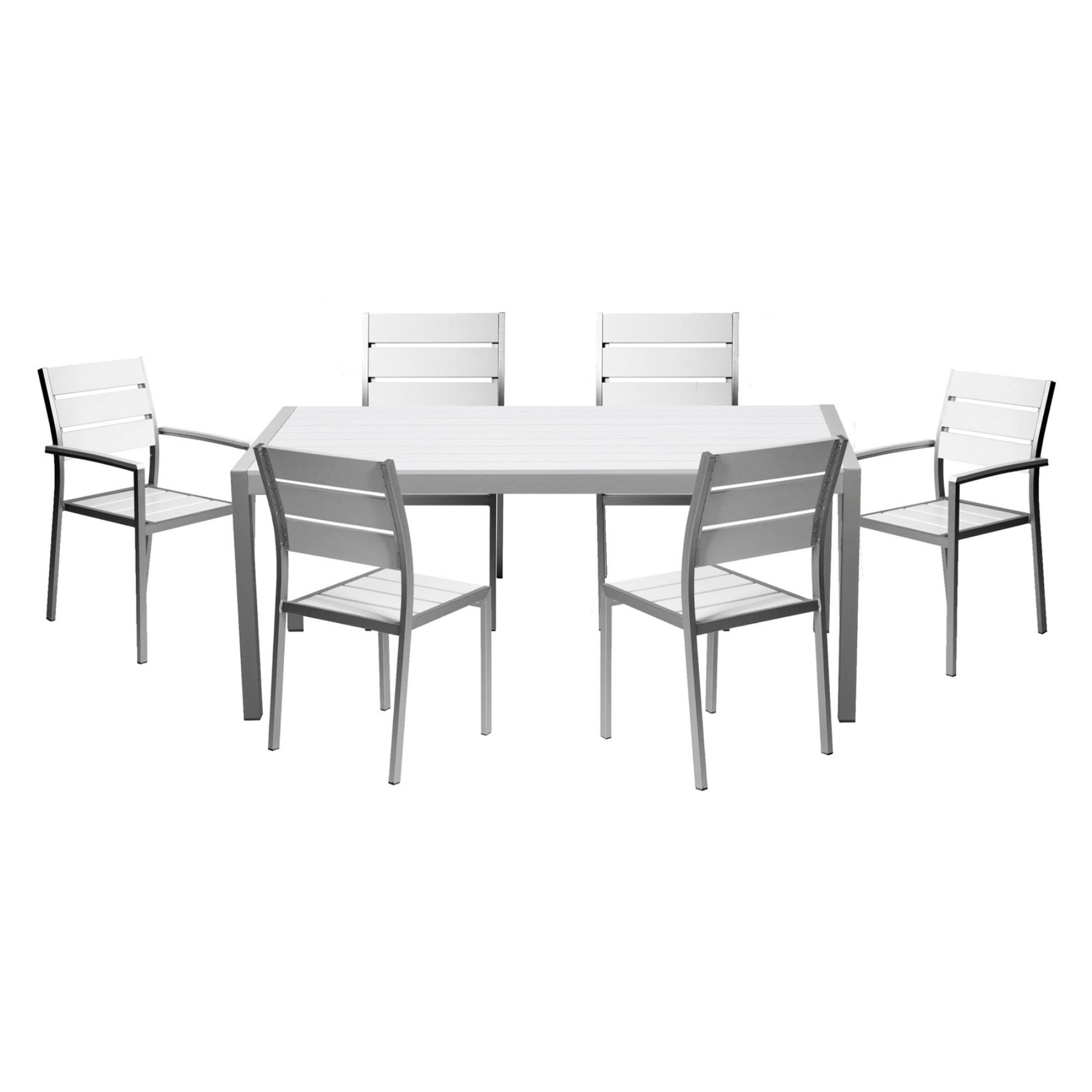 Pangea Outdoor Roy Aluminum 7 Piece Patio Dining Set In 2018 With Regard To Latest Market 7 Piece Dining Sets With Host And Side Chairs (Photo 18 of 20)