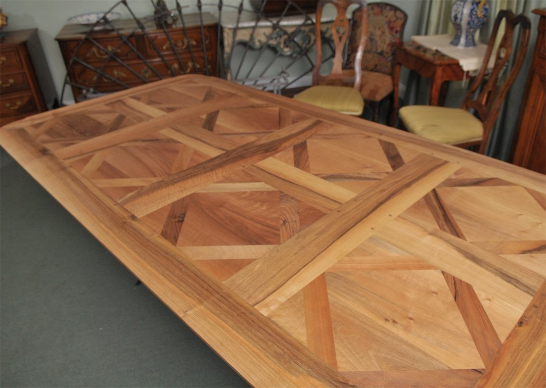 Parquet Dining Table With Iron Base For Sale At 1Stdibs Inside Recent Parquet Dining Tables (Image 14 of 20)