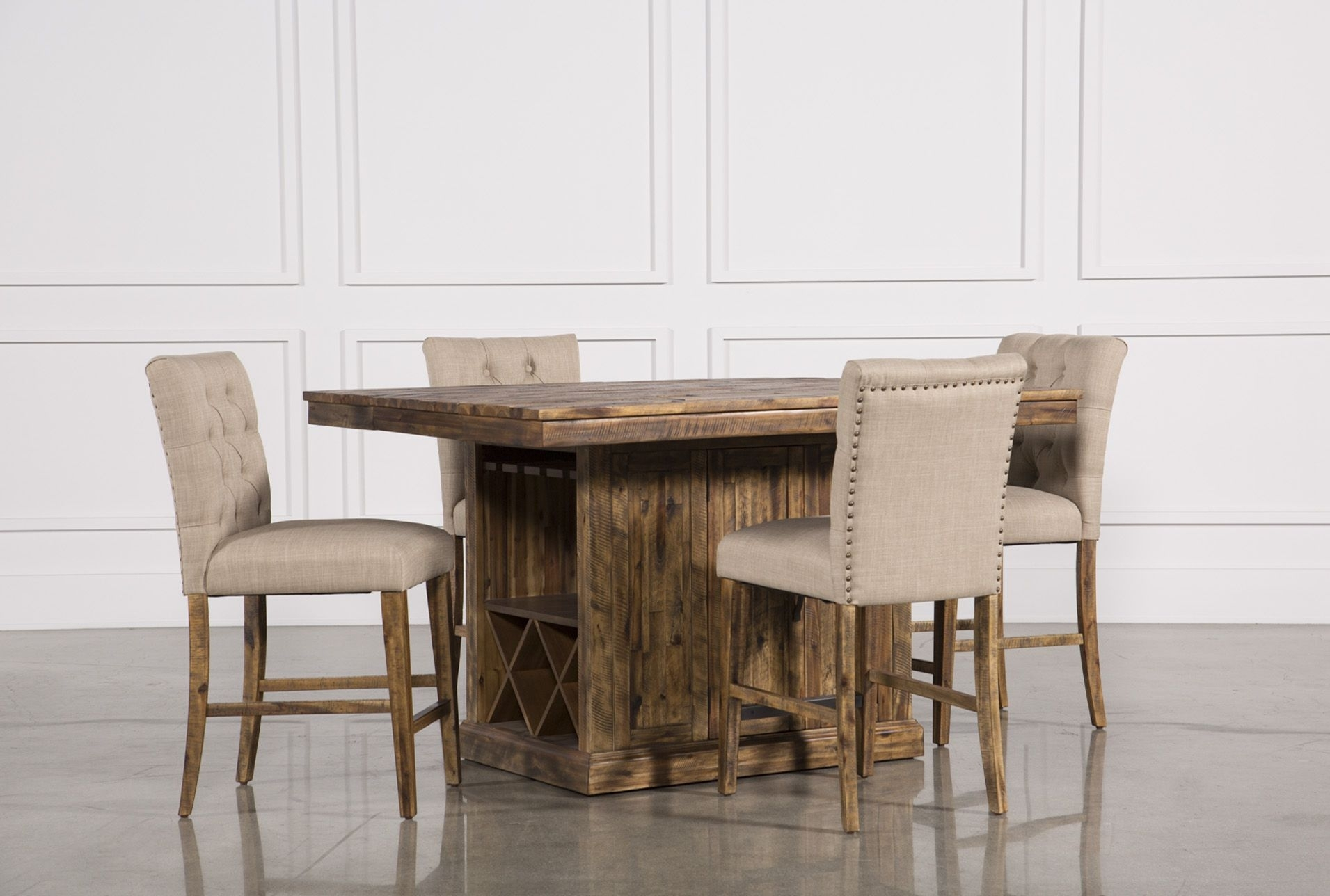 Partridge 5 Piece Extension Counter Set | Partridge And Products Within Most Recently Released Partridge Dining Tables (Image 6 of 20)