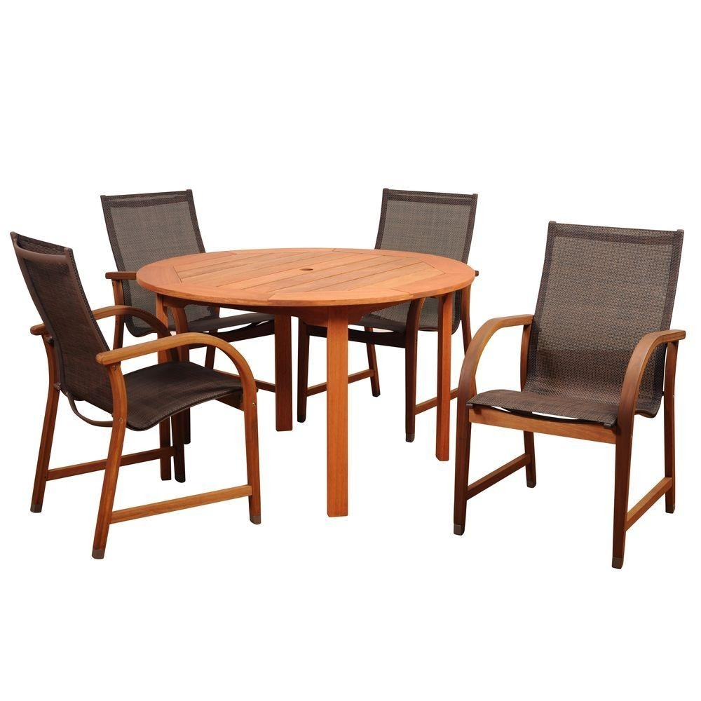 Patio Dining Sets – Patio Dining Furniture – The Home Depot Inside Latest Market 6 Piece Dining Sets With Host And Side Chairs (Photo 17 of 20)