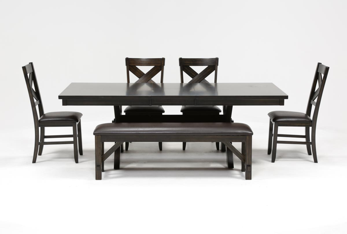 Pelennor 6 Piece Extension Dining Set | Living Spaces In Latest Pelennor Extension Dining Tables (Image 13 of 20)