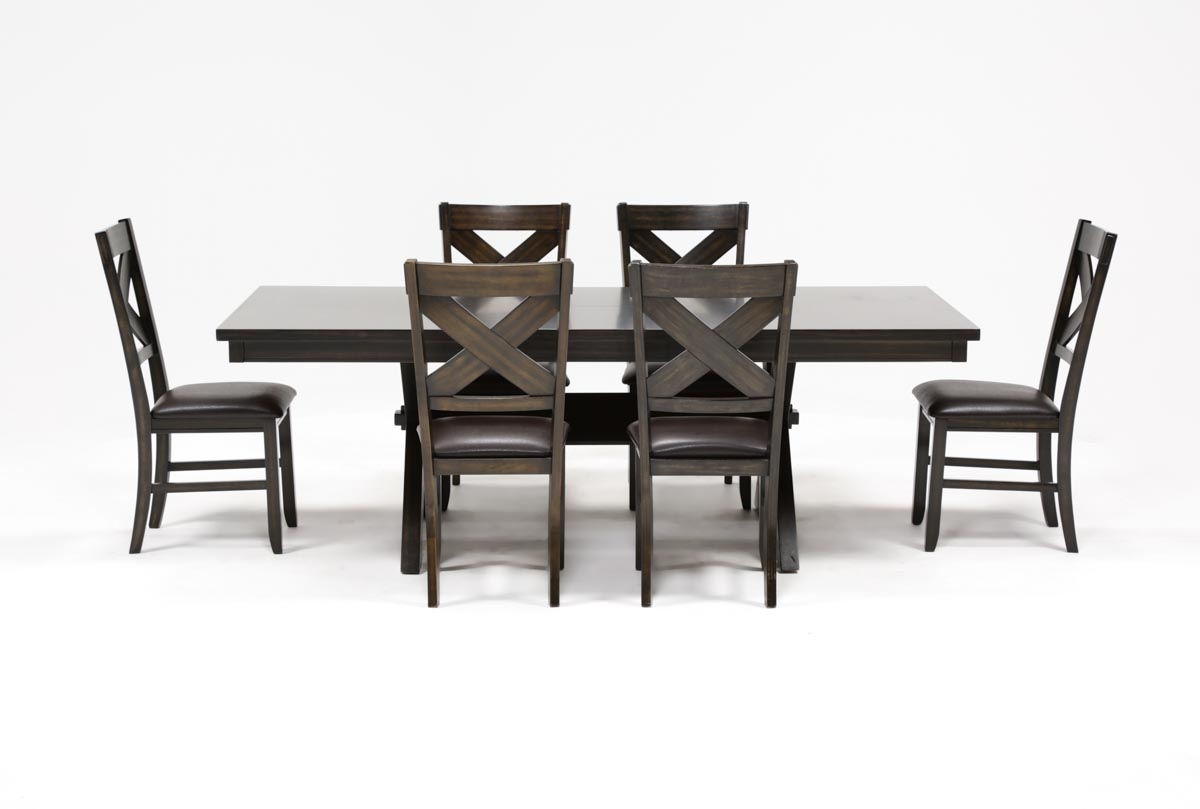 Pelennor 7 Piece Extension Dining Set | Living Spaces Pertaining To Most Recently Released Pelennor Extension Dining Tables (Image 15 of 20)