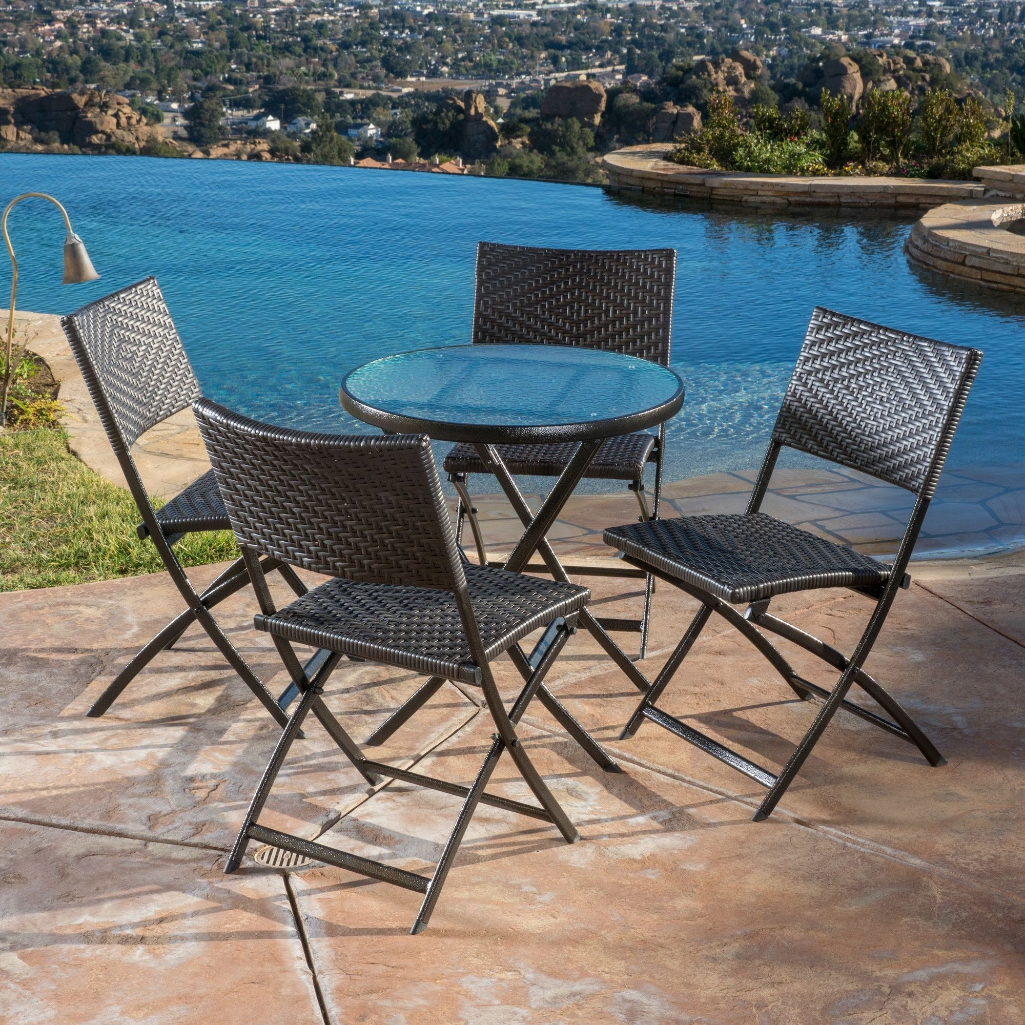 Pergamon 5 Piece Dining Set | Products | Pinterest | Outdoor Inside Most Current Delfina 7 Piece Dining Sets (Image 16 of 20)