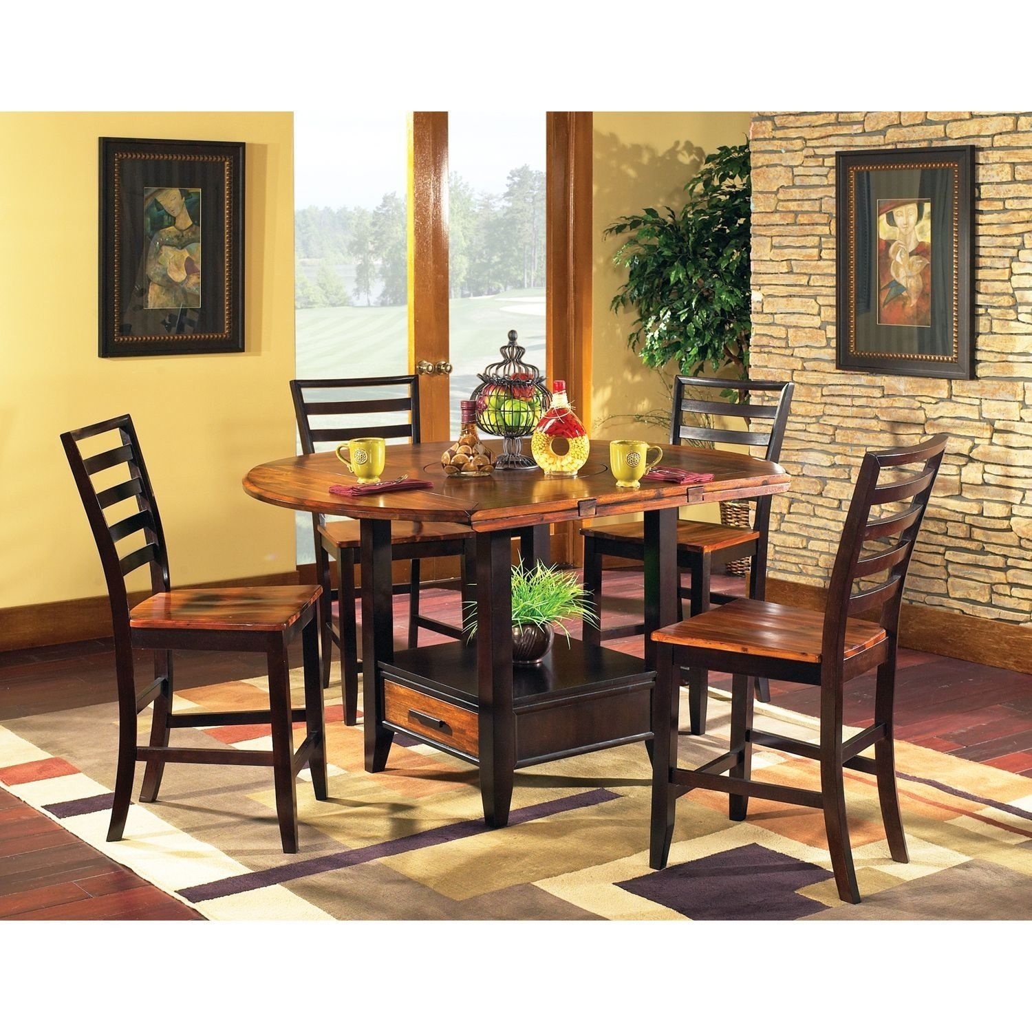 Pierson Counter Height Dining Setlauren Wells – 5 Pc | For The Inside Most Recent Laurent 5 Piece Round Dining Sets With Wood Chairs (View 4 of 20)