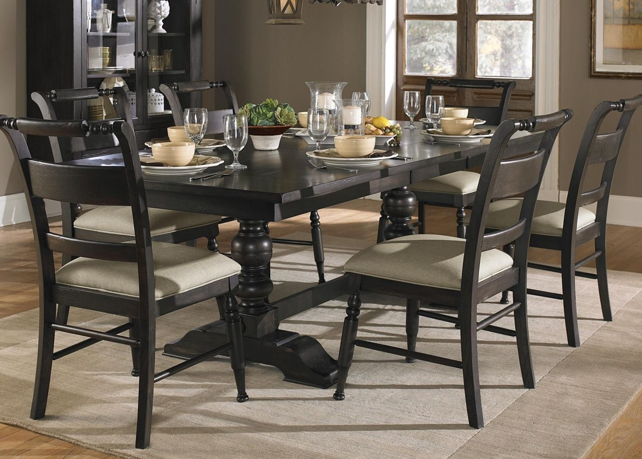Pinayuw Lastnight On Modern Table Design | Pinterest | Dining Inside Best And Newest Caira Black 7 Piece Dining Sets With Upholstered Side Chairs (Image 14 of 20)