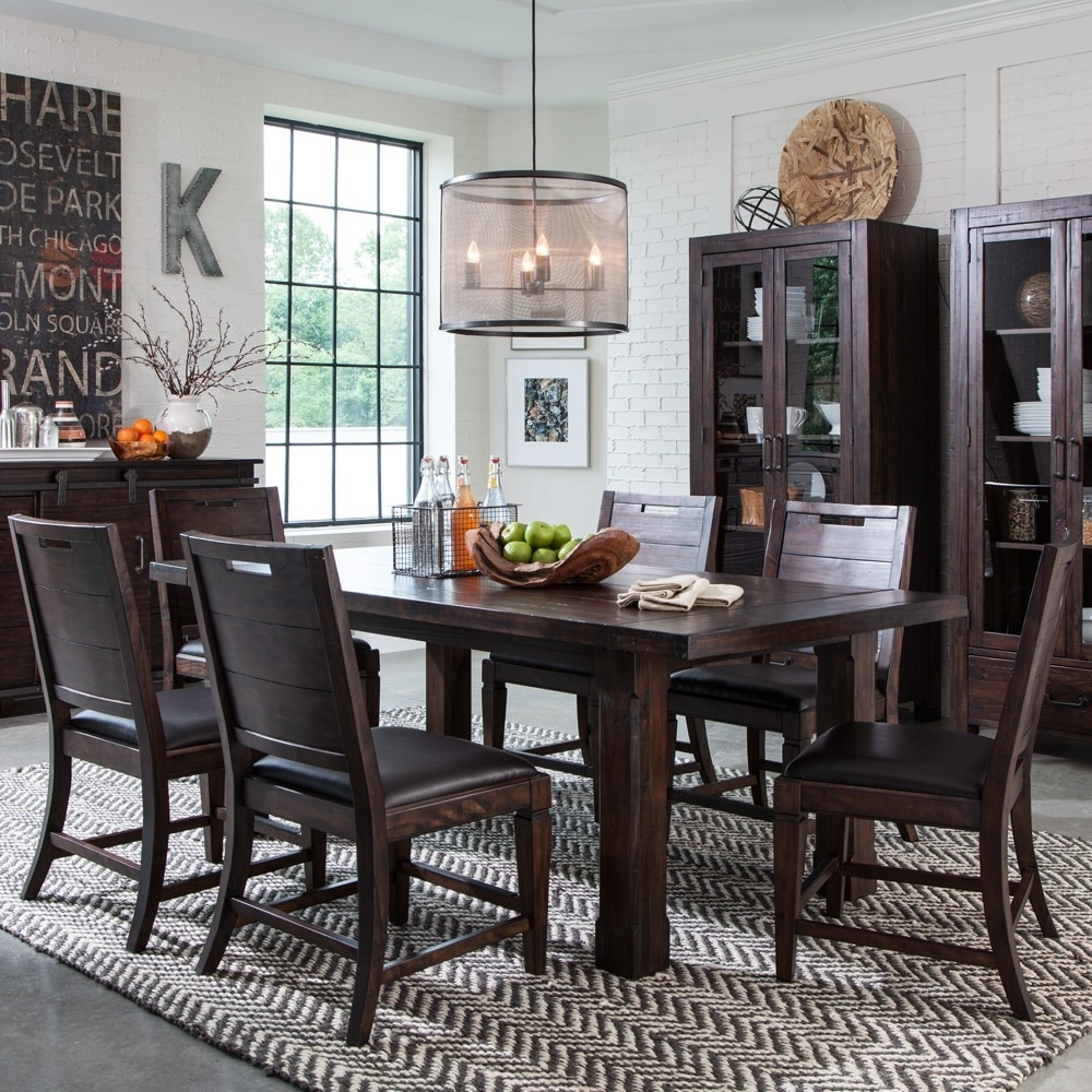 Pine Hill Wood Rectangular Dining Table In Rustic Pine | Humble Abode Inside Most Popular Weaver Ii Dining Tables (Photo 7 of 20)