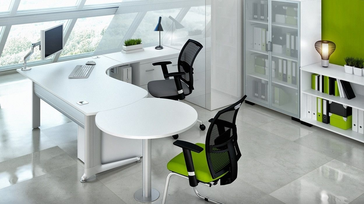 Pinjooana On Evolusion Design Concept | Pinterest | Desk, Office With Best And Newest Ina Pewter 60 Inch Counter Tables With Frosted Glass (View 20 of 20)