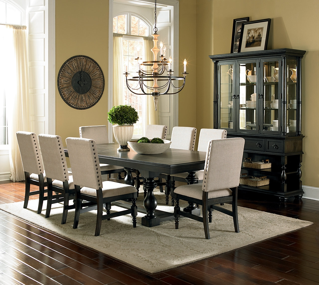 Plain Design Dining Room Sets With Fabric Chairs Norwood 6 Piece Inside Latest Norwood 6 Piece Rectangular Extension Dining Sets With Upholstered Side Chairs (Image 16 of 20)