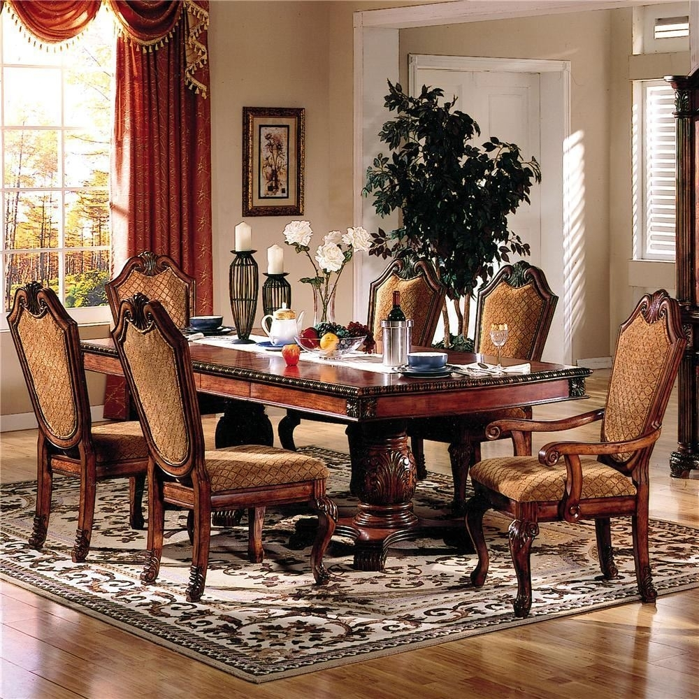 Plain Design Dining Room Sets With Fabric Chairs Norwood 6 Piece Throughout Most Recently Released Norwood 6 Piece Rectangular Extension Dining Sets With Upholstered Side Chairs (Image 17 of 20)