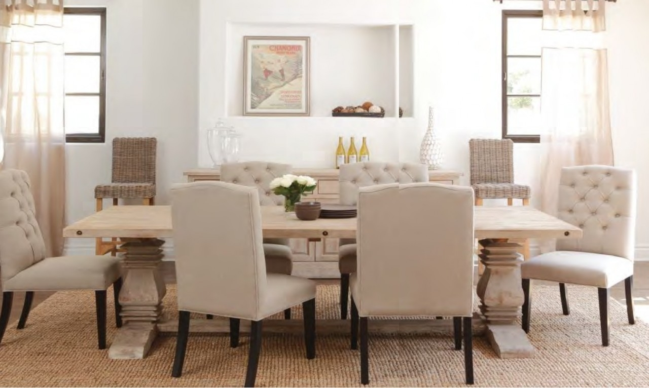 Plain Design Dining Room Sets With Fabric Chairs Norwood 6 Piece Within Most Recently Released Norwood 6 Piece Rectangular Extension Dining Sets With Upholstered Side Chairs (Photo 15 of 20)