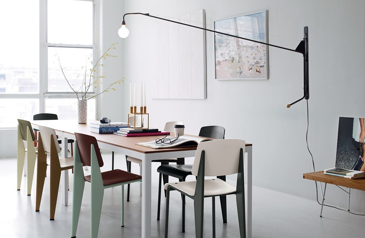 Prouvé Potence Lamp | Furn: Chairs | Pinterest | Dining, Design And Within 2018 Bale Rustic Grey 7 Piece Dining Sets With Pearson Grey Side Chairs (View 4 of 20)