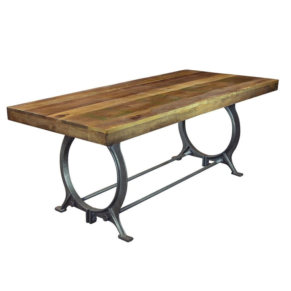 Reclaimed Wood & Iron Dining Table In Mango | Humble Abode In Latest Mango Wood/iron Dining Tables (Image 17 of 20)