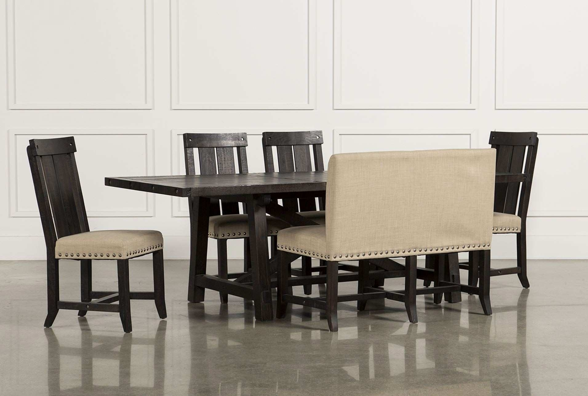Rectangle Dining Table Set – Castrophotos Inside Newest Jaxon Grey Rectangle Extension Dining Tables (Image 16 of 20)