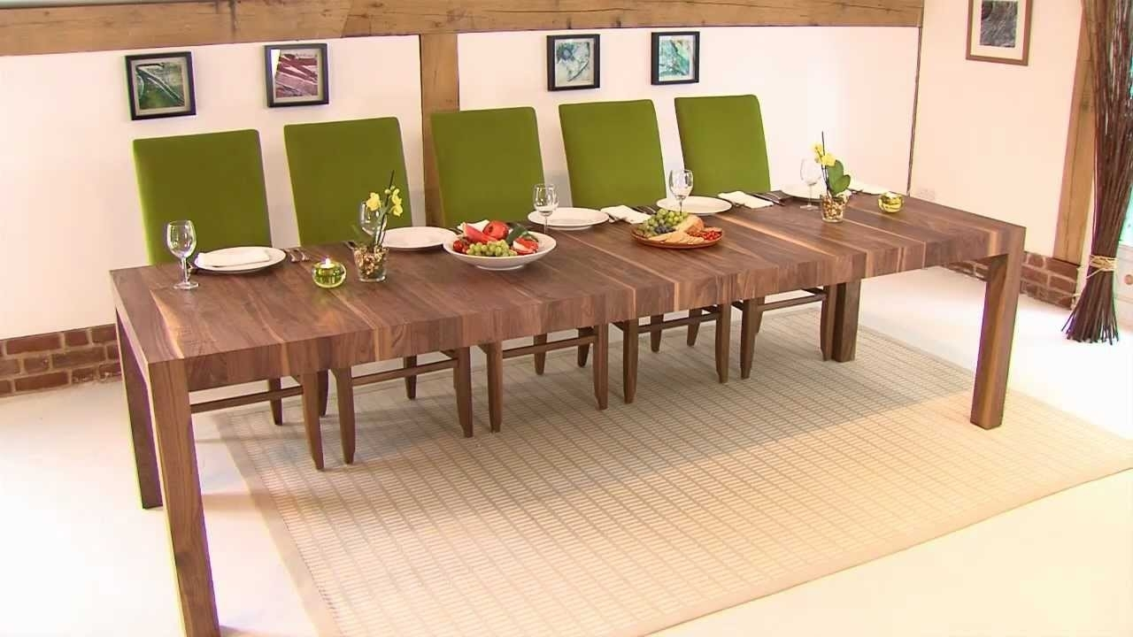 Rectangular Extending Table – Youtube With Most Recently Released Craftsman Rectangle Extension Dining Tables (Photo 10 of 20)