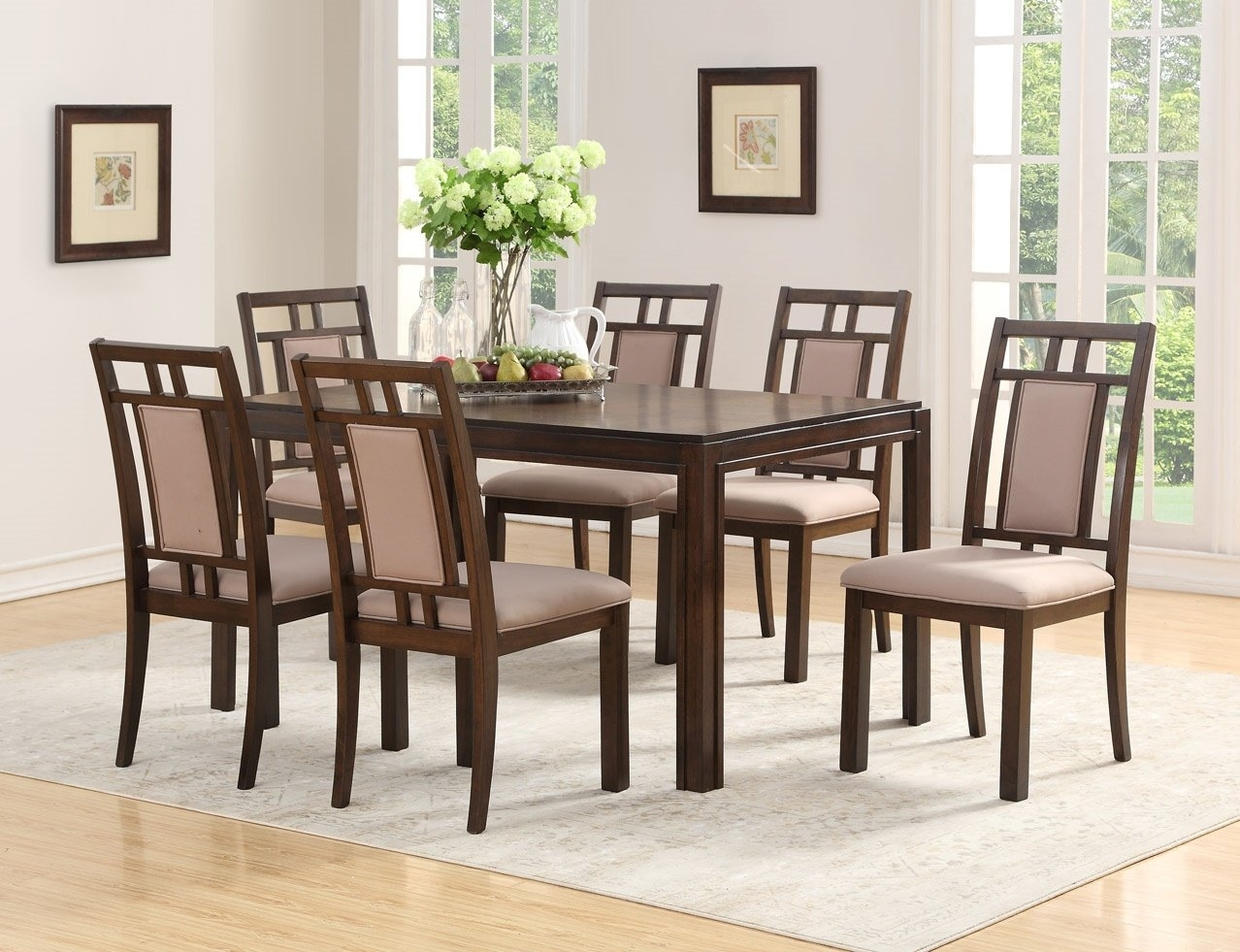 Red Barrel Studio Heid Parquet 7 Piece Dining Set | Wayfair For Best And Newest Parquet 7 Piece Dining Sets (Photo 1 of 20)