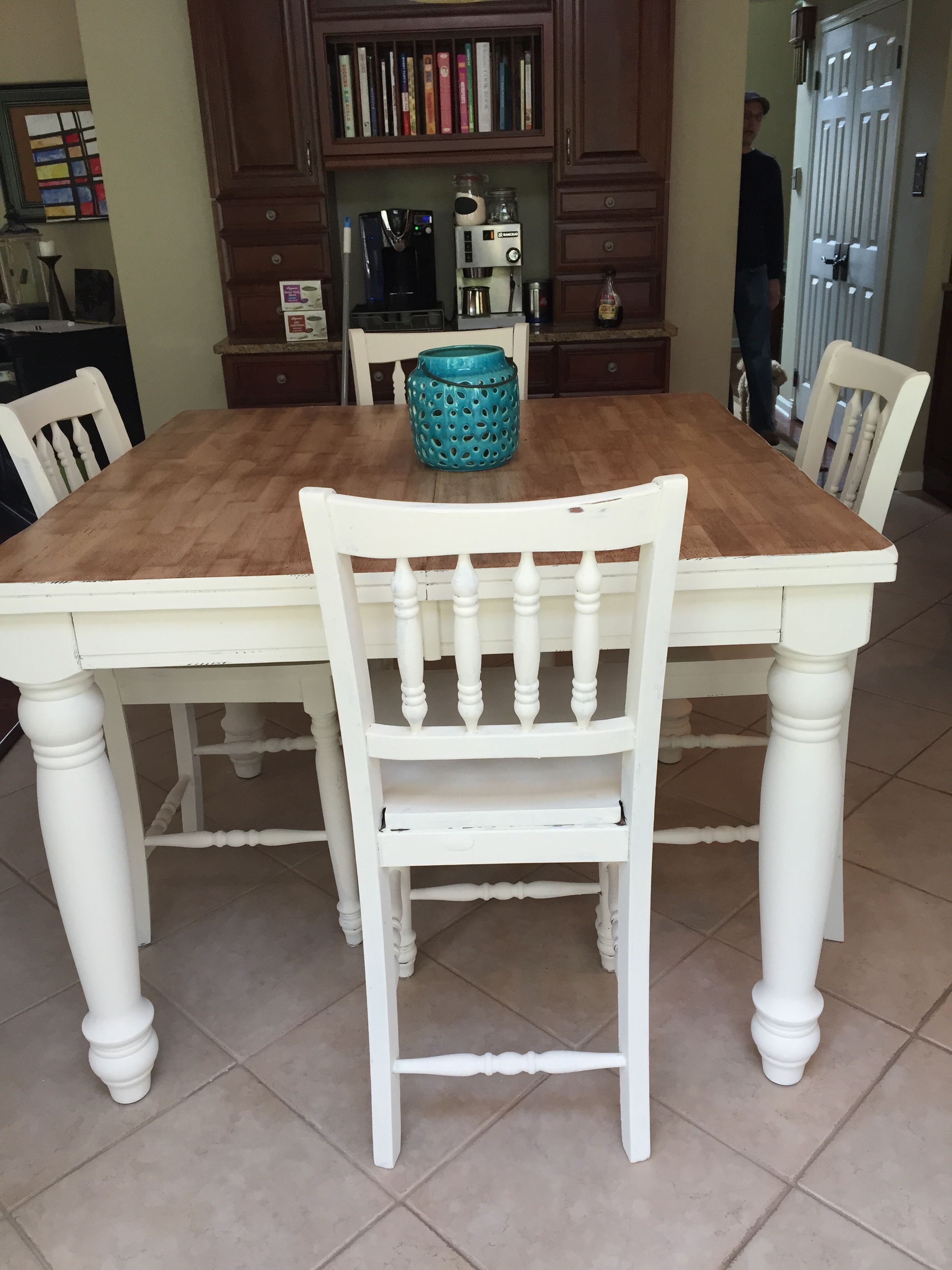 Refinished Pub Table With Chalk Paint (View 13 of 20)