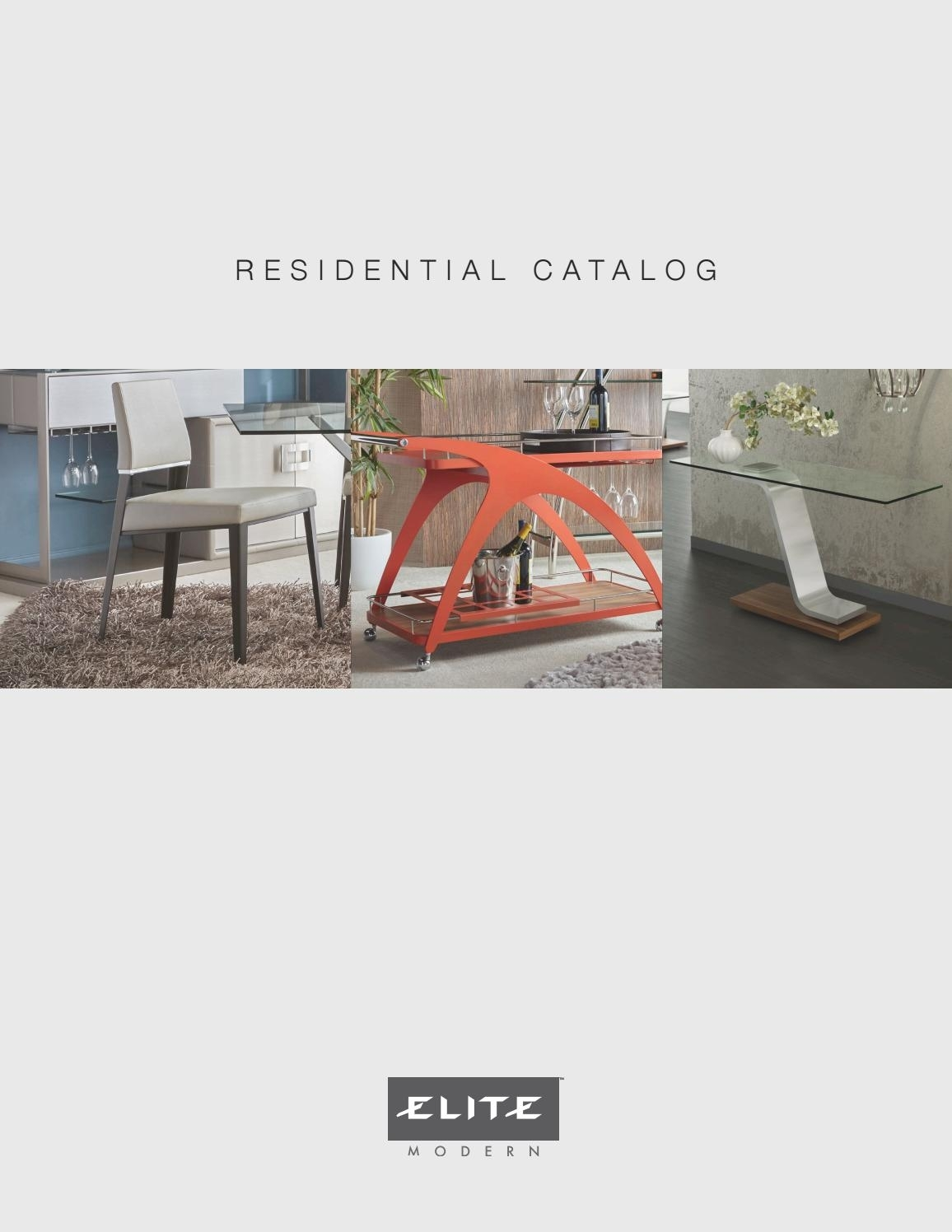 Residential Catalogelite Modern – Issuu Throughout Newest Ina Pewter 60 Inch Counter Tables With Frosted Glass (Photo 14 of 20)