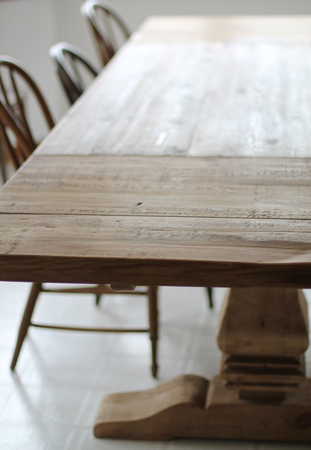 Restoration Hardware Dining Table Finishes & Ways To Protect It Throughout Most Up To Date Washed Old Oak & Waxed Black Legs Bar Tables (Photo 15 of 20)