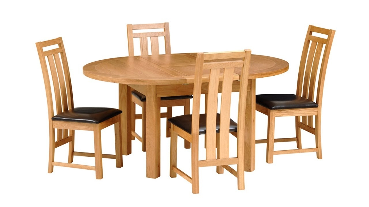 Richmond Oak 120Cm 160Cm Extending Round Dining Table – The Cotswold With Regard To Latest Norwood 6 Piece Rectangle Extension Dining Sets (Image 17 of 20)