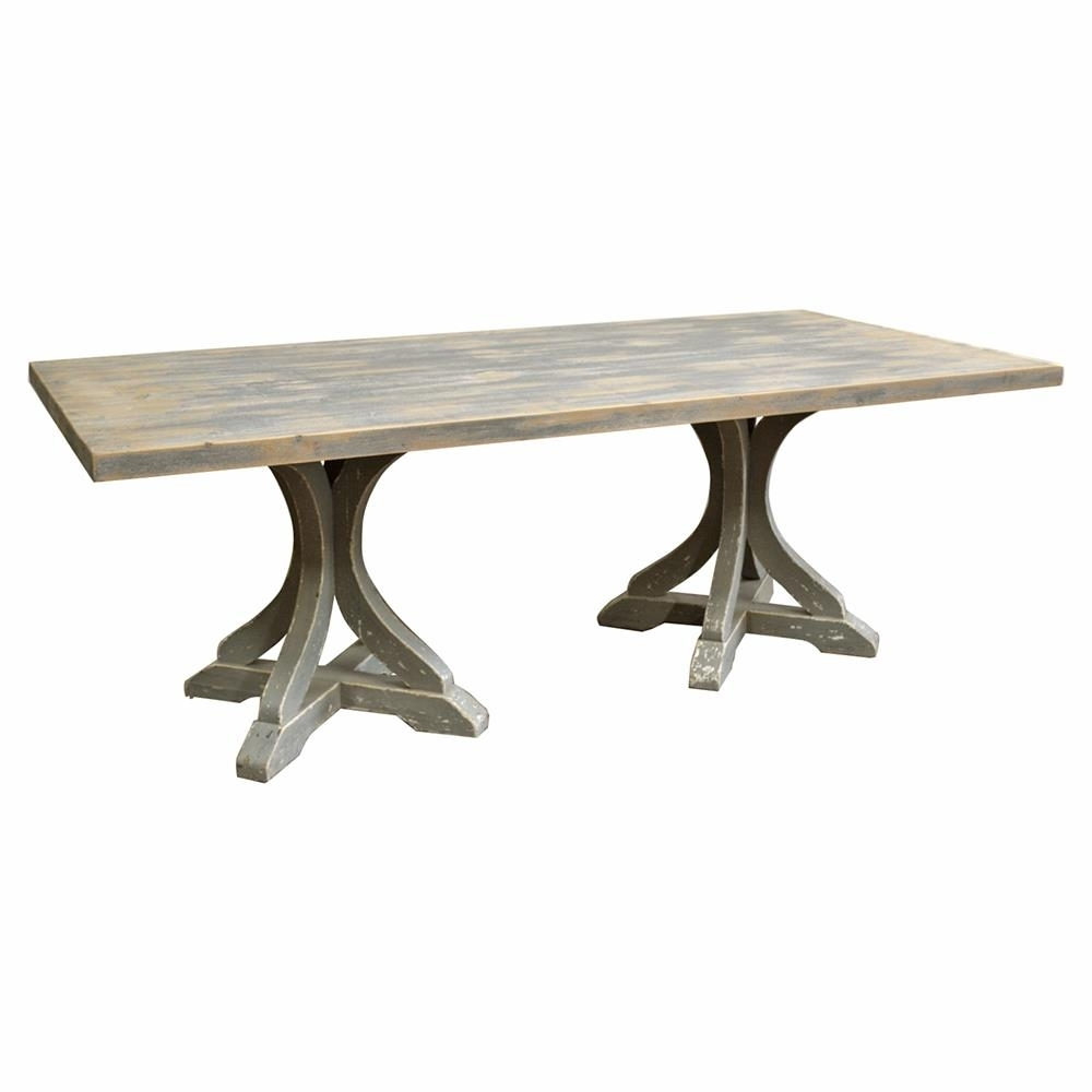 Rivoli French Country Rectangular Double Pedestal Dining Table Intended For Most Up To Date Palazzo Rectangle Dining Tables (View 10 of 20)